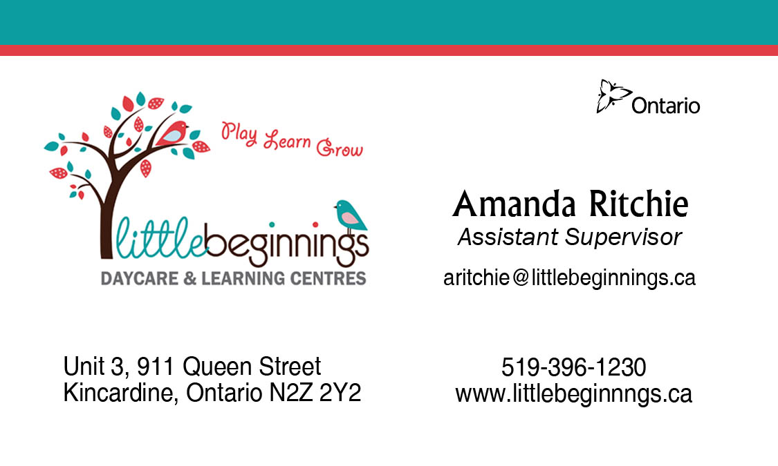 Little Beginnings Biz Cards - RITCHIE