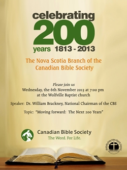 Celebrating 200 Years Bible Society